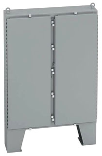 746012-4FD B-LINE TYPE 4 DOUBLE-DOOR FLOOR-STANDING ENCLOSURE, LESS PANEL, 74X60X12