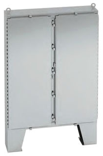 747224-4XSFD B-LINE TYPE 4X STAINLESS STEEL DOUBLE-DOOR FLOOR-STANDING ENCLOSURE, 74X72X24