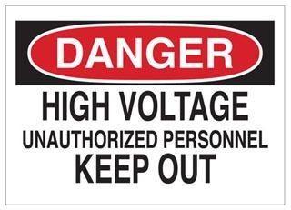 84086 BRADY ELECTRICAL HAZARD SIGN