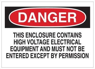 84113 BRADY ELECTRICAL HAZARD SIGN