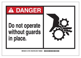 83912 BRA B-302 SELF-STICKING SIGNS - ALERT SIGN 75447383912