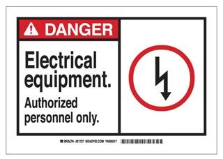 83679 BRADY B302 7X10 ANSI BLK,RED/WHT ELECTRICAL