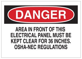 84859 BRA B-302 SELF-STICKING SIGNS - ELECTRICAL HAZARD SIGN 75447384859