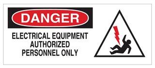 70306 BRADY ELECTRICAL HAZARD SIGN