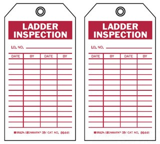 86610 BRADY INSPECTION & MATERIAL CONTROL TAGS