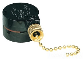 280-B108-PB CRFTMADE POLISHED BRASS FINISH REPLACEMENT SINGLE STACK PULL CHAIN SWITCH 64788100462