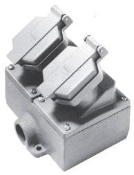 ENR22201 C-HINDS 20A 125V DF INTRLCK DE TWO GANG RCPT ASSY3/4 78227431103