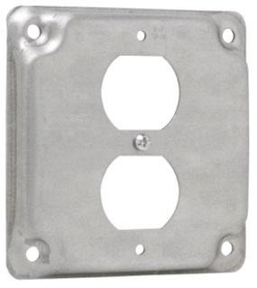 TP516 C-HINDS 4SQ 1 DUPLEX RECPT SURFACE CVR