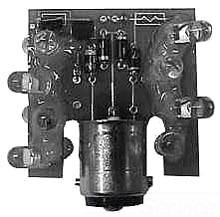 E26S78 CH 110/125V AC LED LAMP BA15D WHITE FLASHING