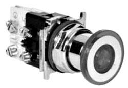 10250T597LRD24-1X CH 2P ILL MT PUSH/PULL RED- FV 24V LED - OX,XO