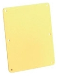 3265 WOODHEAD COVERPLATE BLANK LEXAN YELLOW FOR3200/33 78678834003