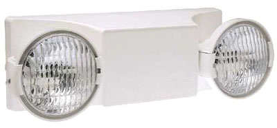EZ-2-I DUAL-LITE 2-HEADED EMERGENCY LIGHT