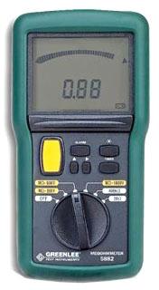 5882-C GRE MEGOHMMETER-1KV DIG/ANA LT ALM CAL 78331007639