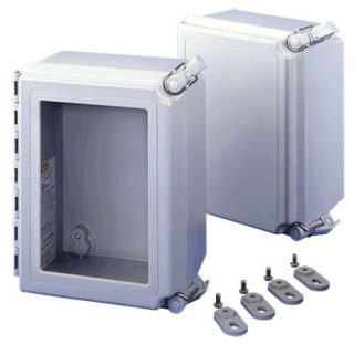 A664CHSCFG HOF HINGED SOLID COVER 4X ENCL