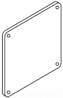 F44LP HOF CLOSURE PLT