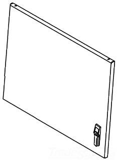 PDS66GLD HOFFMAN SOLID DOOR UPPER FRONT 78351010186