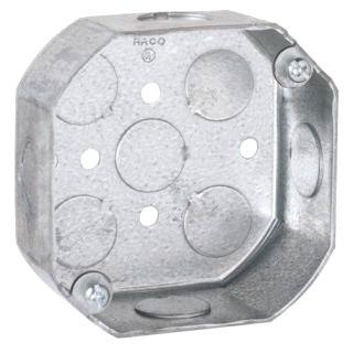 125 RACO OCTAGON BOX 4IN 1-1/2D 1/2 KO 05016990125