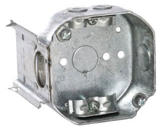 160 RACO 4 OCT BOX 1-1/2DP J-BRKT NM-CLMP 1/2 KO