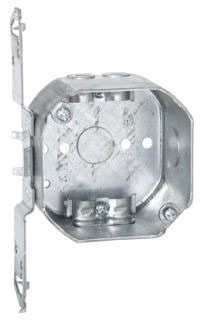 177 RACO 4 OCT BOX 2-1/8DP TS-BRKT NM CLMP 1/2 KO