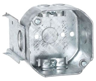 176 RACO 4 OCT BOX 2-1/8DP J-BRKT NM-CLMP 1/2 KO
