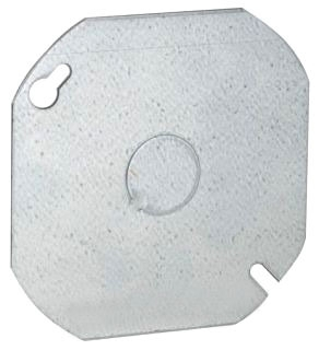 724 RACO 4 ROUND COVER BLANK 1/2 KO IN CENTER