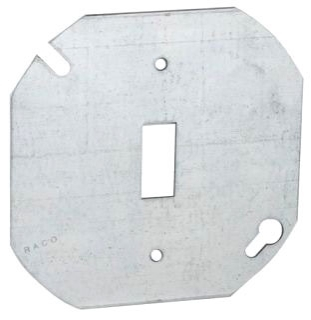 729 RACO OCT COVER 4 FLAT SGL TOGGLE 05016900729