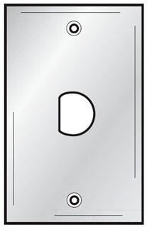 SSD1430 HUBBELL WALLPLATE, 1-G, .46