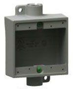 2FSC-2 KILLARK DEVICE BOX 2GANG SHLW AL 3/4IN 78393619021