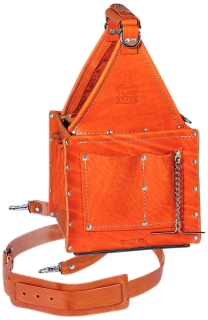 35-975 IDL TUFF-TOTE 8X8IN LEATHER TOOL CARRIER W/SHOULDER STRAP