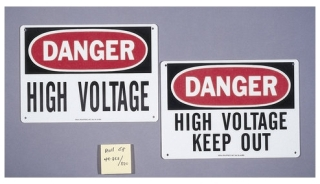 44-862 IDEAL SIGN-DANGER HIGH VT,FBRGL