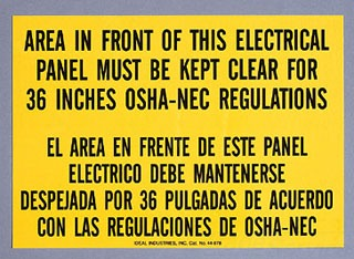 44-877 IDL SIGN-NAT'L ELEC CODE,ADH 78325044877