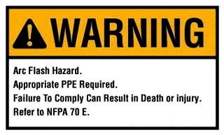 44-892 IDL ARC FLASH WARNING LABEL
