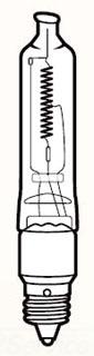 5903CLR KICHLER ACC BULB 100W T-3 OR T-4 HALOG