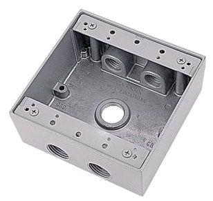 2IH5-2 RED 2G RT BOX W/5 3/4 HUBS