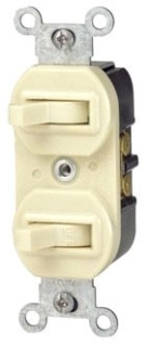 5241 LEV 15A/120-277V COMB 3WAY SWITCH & SP SWITCH BROWN