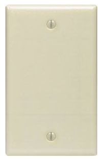 86014 LEV 1G PLATE BLANK IVORY