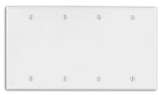 86064 LEV 4G PLATE BLANK IVORY