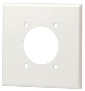 80726-W LEV 2G NYLON PLATE W/SINGLE RECEP 2.15 HOLE WHITE