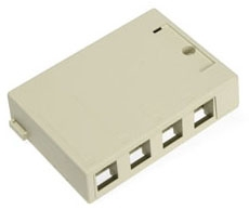 41089-4IP LEV 4-PORT SURFACE MOUNT BOX - QUICKPORT IVORY