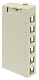 41089-6IP LEV 6-PORT SURFACE MOUNT BOX - QUICKPORT IVORY