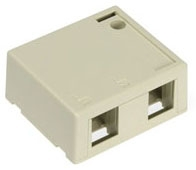 41089-2IP LEV 2-PORT SURFACE MOUNT BOX - QUICKPORT IVORY