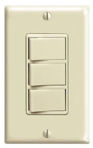 1755I LEV 15A DECORA 3 ROCKER SWITCHES IVORY
