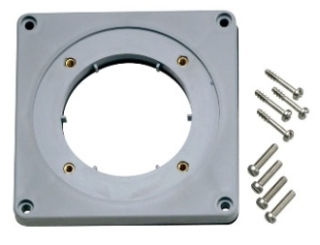 AP60 LEVITON ADAPTER PLATE FOR PIN & SLEEVE INLETS AND RECEPTACLES, 60 AMP, IP67, WATERTIGHT - GRAY