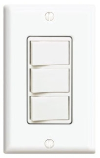1755W LEV 15A DECORA 3 ROCKER SWITCHES WHITE