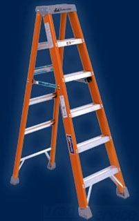 FS1510 LOU 10FT FIBERGLASS STEP LADDER