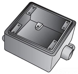 FS275 GEDNEY FS 2 GANG CAST BOX 3/4 IN HUBS 78312620413