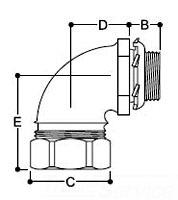 LML-12-E REMKE LIQUA-SEAL CON 90 INS 1/2 ZN PLTD W/MESH