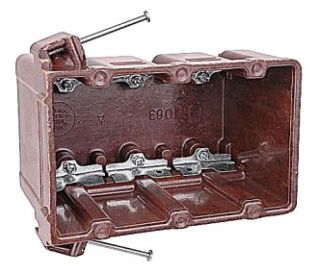 1063-C CAR 3-GANG BOX W/CLAMPS 20PC/CASE