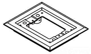 817PCC-BLK WAL 1G BLACK CARPET FLANGE