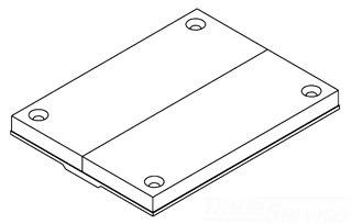 829PCK-BLK WAL TEL CVR PLATE
